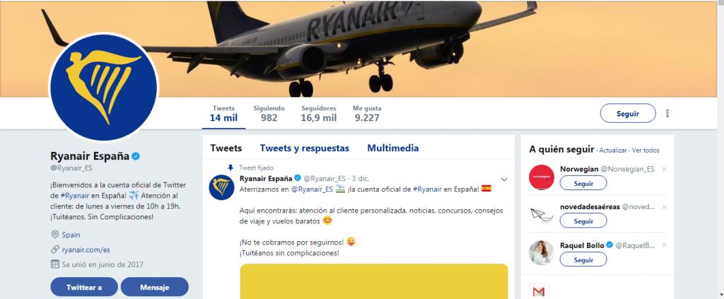 Twitter de Ryanair 3